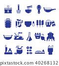 Thai Food icon set,Thai Kitchen Utensil symbol 40268132