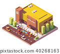 isometric, vector, supermarket 40268163