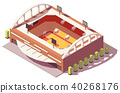 Isometric, vector, stadium 40268176