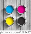 cmyk, paint, bucket 40269427