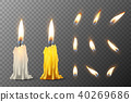 vector, 3d, candle 40269686