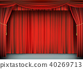 curtain, red, stage 40269713