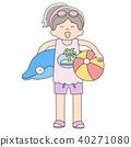 เด็กหญิงอายุ 5 ปีขึ้นไปอาบน้ำทะเล 40271080