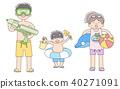 3個孩子_海水浴 40271091