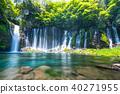 静岡 Shizuoka Prefecture Shiraito Falls ・ Clear stream ス ロ ー Slow shutter》 40271955