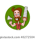 Vector illustration of lumberjack emblem 40272504