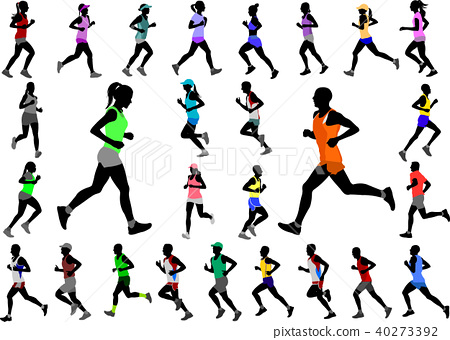 runners in color sportswear silhouettes collection 40273392