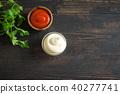 Ketchup and mayonnaise sauces 40277741