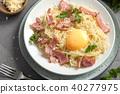 carbonara, pasta, bacon 40277975