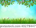 熱帶 樹葉 向量 40278447
