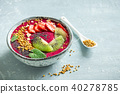 bowl, smoothie, breakfast 40278785