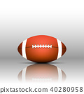 American Football Isolate on White Background 40280958