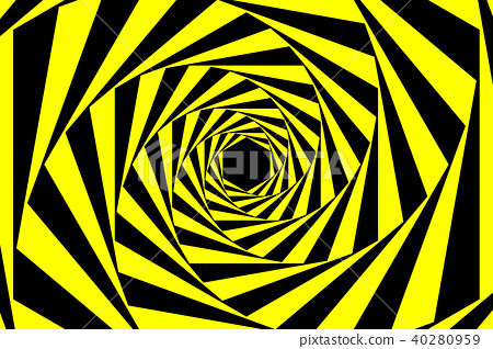 Black Yellow Warning Spiral Abstract Background 40280959
