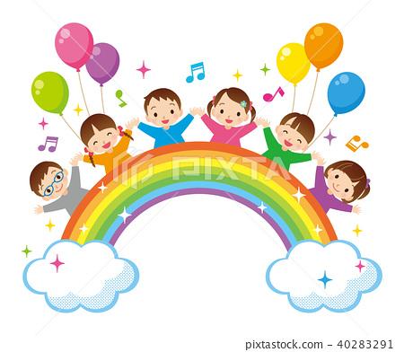 彩虹和孩子們 40283291