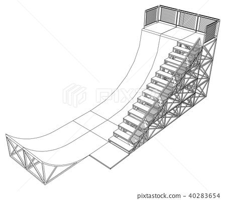 Ramp concept outline. Vector 40283654