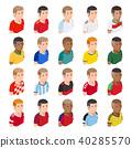 Soccer football player avatar icons. 40285570