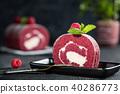 树莓 覆盆子 奶油 40286773