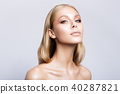 Beauty portrait of model with natural make-up. 40287821