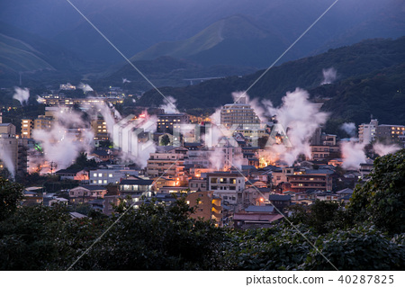 大分別府Yukemuri天文台在別府市的夜景 40287825