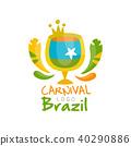 Brazil Carnival logo design, fest.ive party banner vector Illustration on a white background 40290886