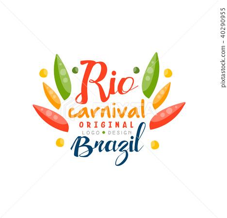 Rio Carnival original logo design, Brazil fest.ive party banner vector Illustration on a white 40290955