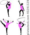 rhythmic gymnastics silhouettes 40291329