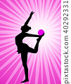 rhythmic gymnast on the abstract background 40292331