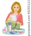 Girl Mom Baby Pack Illustration 40293121