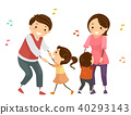 family, dancing, vector 40293143