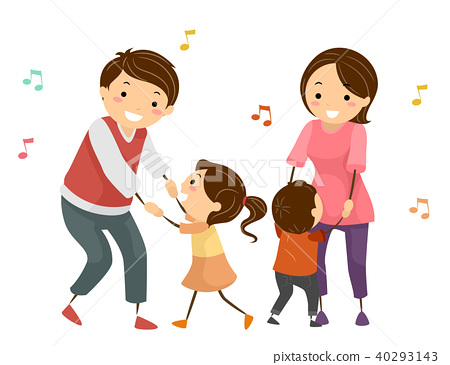 Stickman Family Dancing Illustration 40293143