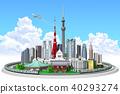 城市景观,东京,山手线接近云 40293274