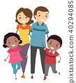Stickman Foster Family Illustration 40294085