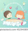 Kids Fantasy Dictionary Illustration 40294089