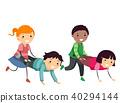 Stickman Kids Wheelbarrow Illustration 40294144