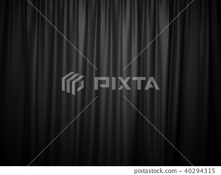 3D rendering black stage curtain 40294315