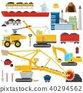 coal, vector, mine 40294562