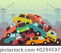 Junkyard Scene Illustration 40294597