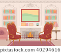 Victorian Living Room Interior Illustration 40294616