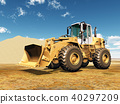 Wheel loader and sand heap 40297209