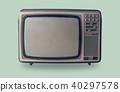 Retro television on pastel color background. 40297578