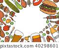 grill, menu, design 40298601