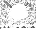 grill, menu, design 40298602