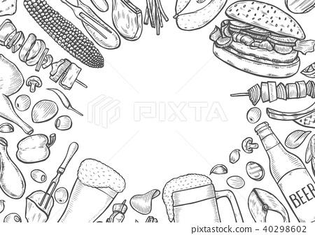 Grill menu design template. 40298602