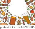 Grill menu design template. 40298605