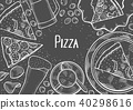 Pub food frame 40298616