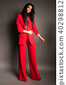 Woman in red suit 40298812