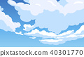 Cloud cartoon style vector illustration background 40301770