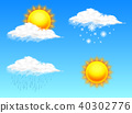 Modern Realistic weather icon. Meteorology symbol on blue background. Color Vector illustration for 40302776