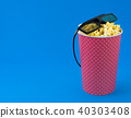 Popcorn blue background 40303408