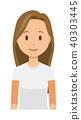長頭髮的年輕女人 40303445